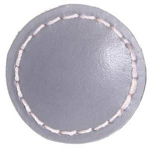 Bilde av Knott av lær, grå Ø: 3,5cm