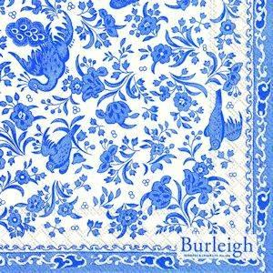 Bilde av Papirserviett Blue regal peacock