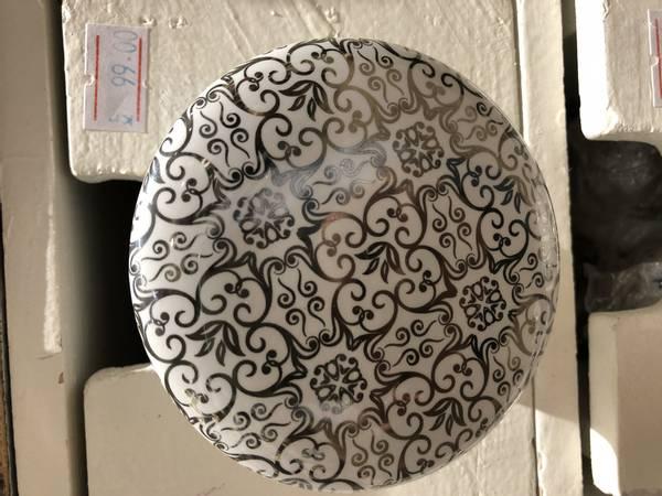 Keramikk knott / knagg sølv 8 cm