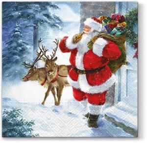 Bilde av Papirservietter Santa is coming