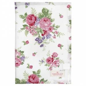 Bilde av Koppehåndkle Tea towel Rose white