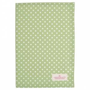 Bilde av Koppehåndkle Tea towel Spot pale green