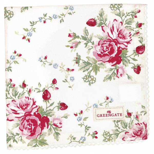 Napkin with lace Mary white