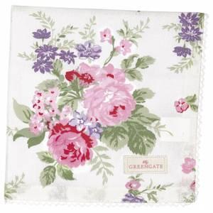 Bilde av Napkin with lace Rose white