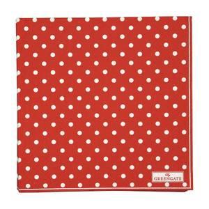 Bilde av GreenGate papirservietter Spot red large