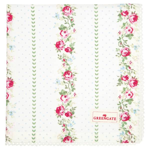 GreenGate napkin with lace Gabby white