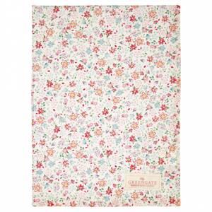 Bilde av GreenGate Tea towel Clementine white