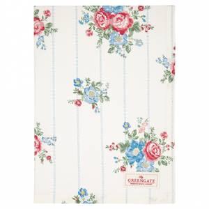Bilde av GreenGate Tea towel Henrietta white