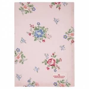 Bilde av GreenGate Tea towel Roberta pale pink