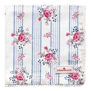 Bilde av GreenGate napkin with lace Fiona pale blue