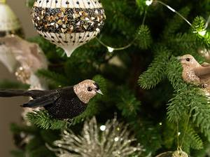 Bilde av Dekorfugl med klype, sort med gullhode