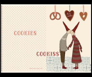 Bilde av Maileg julekort, dobbelt, coo-kiss