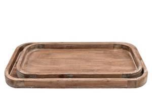Bilde av Trefat, avlang - brun (velg størrelse)