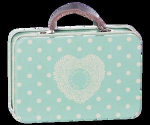 Bilde av Maileg koffert blå/turkis med prikker