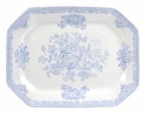 Bilde av Blue Asiatic Pheasant Rectangular Dish 25cm
