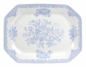 Bilde av Blue Asiatic Pheasant Rectangular Dish 34cm
