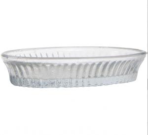 Bilde av Glassål oval med riller, klart glass