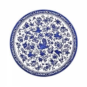 Bilde av Blue regal peacock plate 25cm