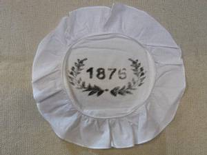 Bilde av Brødkurvserviett 1875, hvit rund