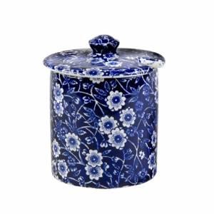 Bilde av Blue Calico covered sugar / jam pot