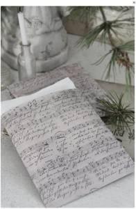 Bilde av Papirpose med noter 14x17cm