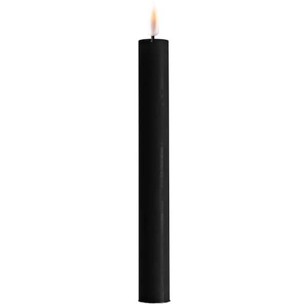 RealFlame LED-kronelys (H: 24cm), 2pk, sort