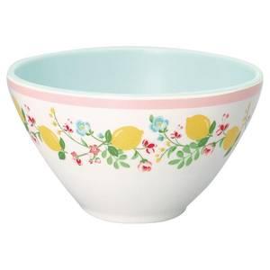 Bilde av GreenGate melaminskål Cereal bowl Limona white