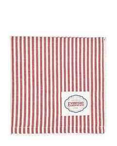 Bilde av GreenGate napkin with lace Alice stripe red