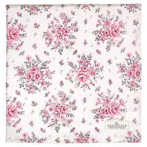 Bilde av GreenGate duk Flora white 140x140 cm