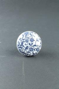 Bilde av Hvite knotter med blå blomster