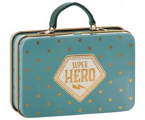 Bilde av Maileg koffer blågrønn  med gullstjerner