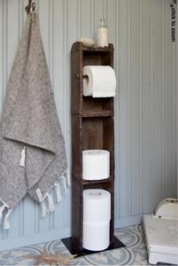 Bilde av Toalettrullholder med hyller av mursteinformer