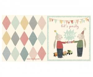Bilde av Dobbelt bursdagskort, Let's party