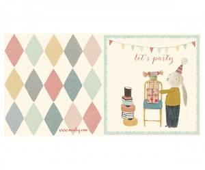 Bilde av Dobbelt bursdagskort, Let's party (1 kanin)