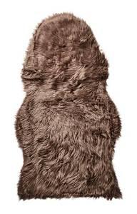 Bilde av Kunstig saueskinn, brun, large