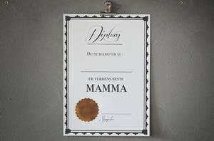 Bilde av Diplom - verdens beste mamma