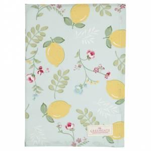 Bilde av Koppehåndkle Tea towel Limona pale blue