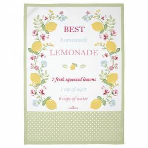 Bilde av Koppehåndkle Tea towel Limona white piece printed