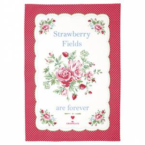 Bilde av Koppehåndkle Tea towel Mary white piece printed