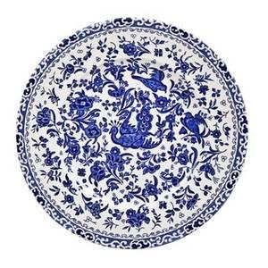 Bilde av Blue Regal Peacock plate 22cm