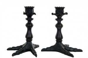 Bilde av Lysestake til kronelys, fugleben, brunsort