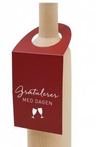 Bilde av Flaskekort gratulerer med dagen, rød