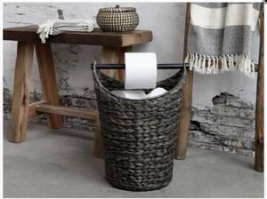 Bilde av Toalettrullholder med kurv, sjøgress, antikk sort