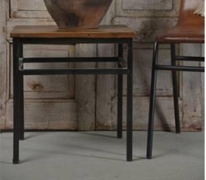 Bilde av Sidebord av jern og tre H: 45cm