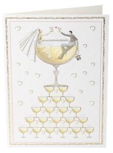Bilde av Stort dobbelt kort med konvolutt, bryllup