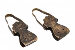 Bilde av Gammeldags klemme, antikk brun 3x8cm