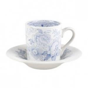 Bilde av Blue Asiatic Pheasants Espresso cup and saucer