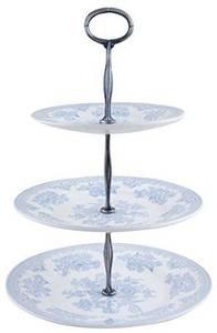 Bilde av Blue Asiatic Pheasants 3 tier cake stand