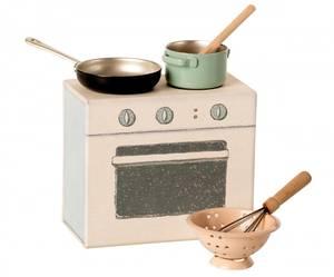 Bilde av Maileg komfyr: Cooking set