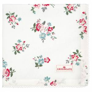 Bilde av GreenGate napkin with lace / brikke Sonia white